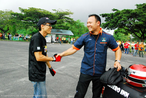 Burnout360 Drift King, Alig Wong, and Malaysia Drift King, Tengku Djan.